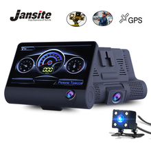 Jansite 4.0″ Car DVR Radar Detector Gps 3 in 1 Camera Three camera  Video dashcam Camcorder Radar Speed Dual Lens 1080P