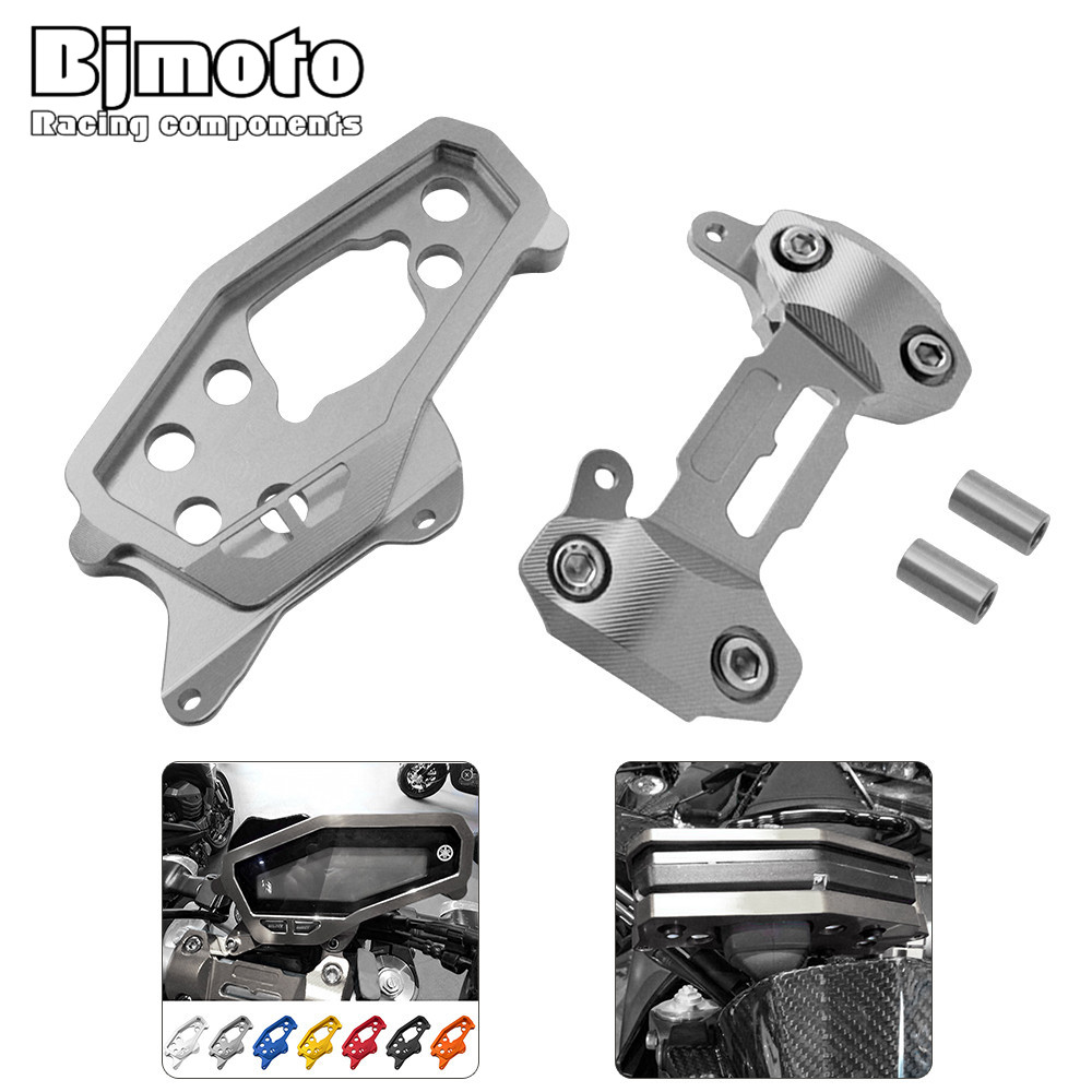 Bjmoto 7color CNC Aluminum HandleBar Fat Bar Riser Mount Clamps Speedometer Cover Case for Yamaha MT-09 MT09 2014-2017 motocross for yamaha mt 07 mt 07 fz07 mt07 2014 2015 2016 accessories coolant recovery tank shielding cover high quality cnc aluminum