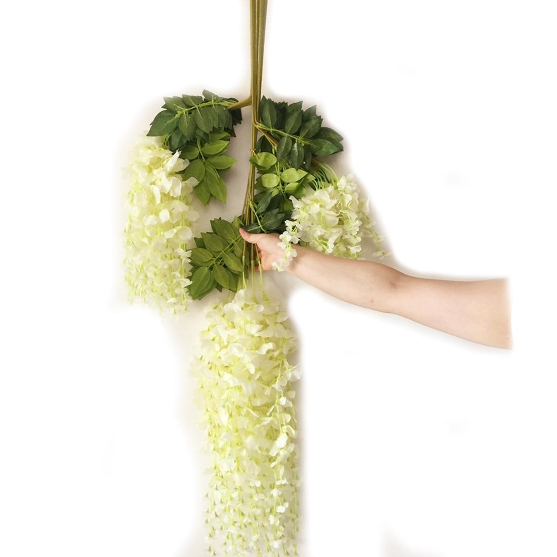 Silk Wisteria Vines 12 stks 105 cm Kunstmatige Wisteria Bloem - Feestversiering en feestartikelen