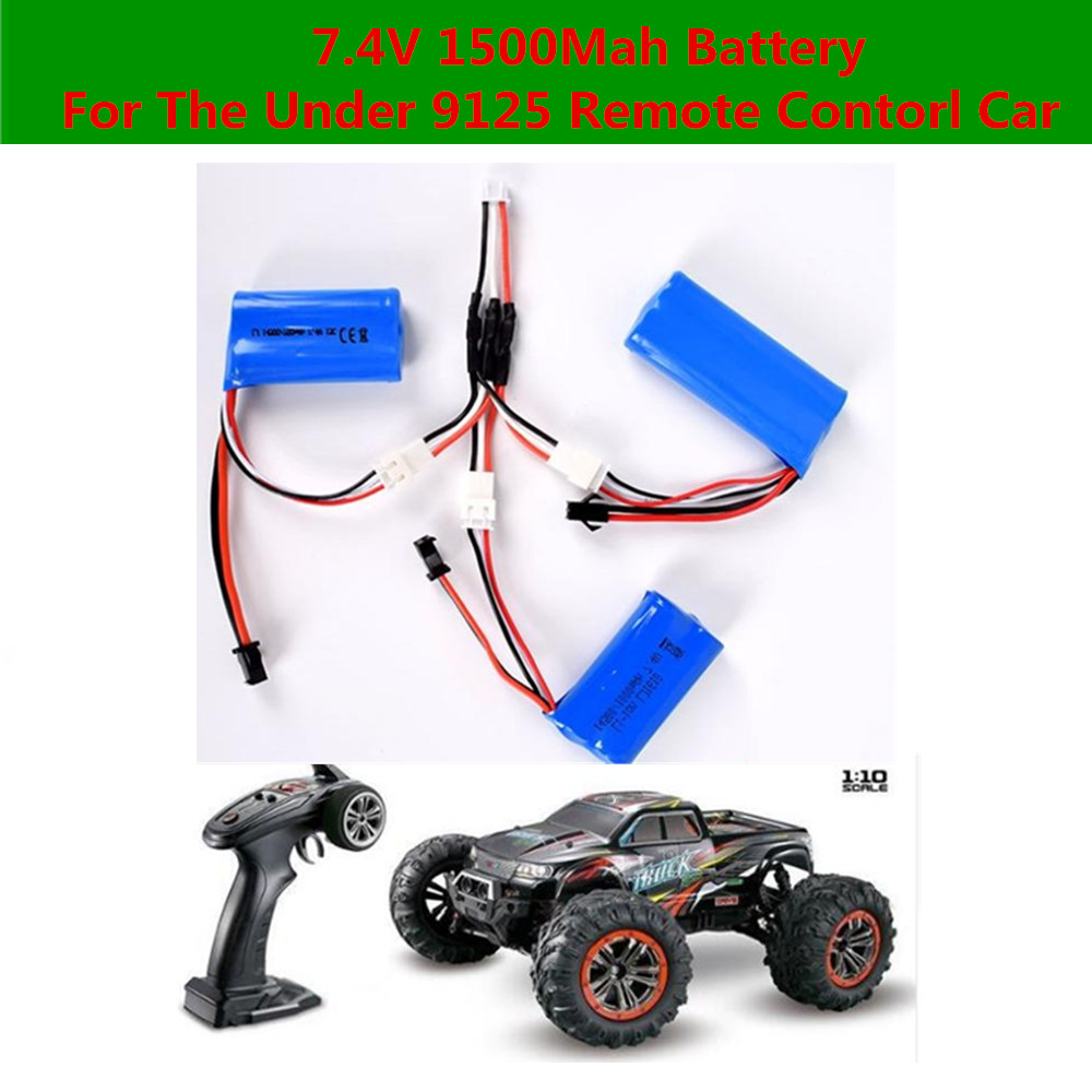 Hot Sell RC Car Battery 7.4V 1500mAh Battery For 9125 Racing Remote Control RC Car Truck Spare Parts Battery