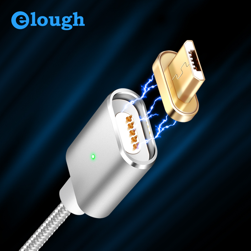Elough E03 Magnetic charging Micro USB Cable For Samsung Mobile Phone Magnetic c