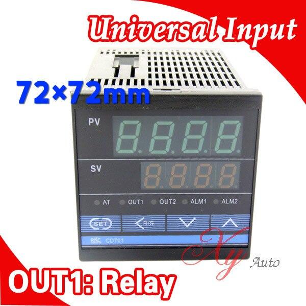 все цены на  CD701 72*72mm Digital PID Temperature Control Thermocontroller Thermostat Regulator,Input sensor thermocouple K, Relay Output  онлайн