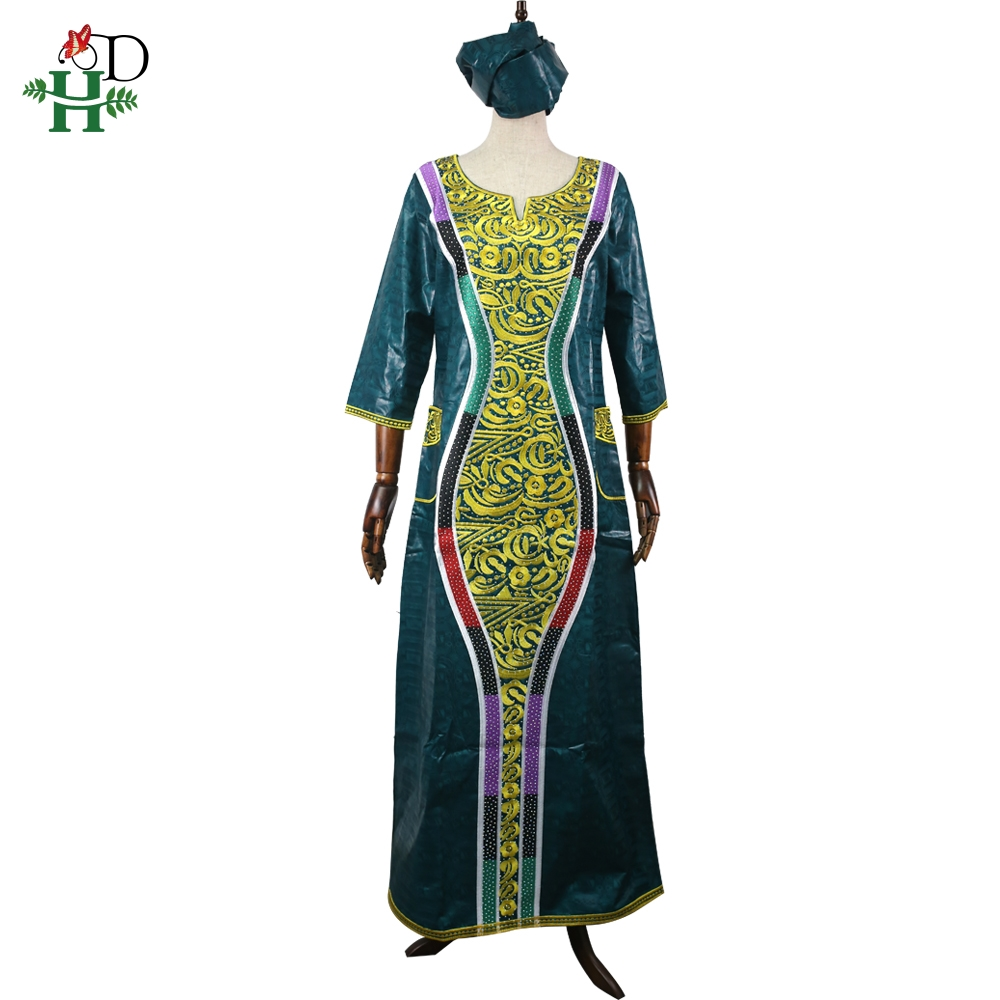 H&D 2019 African Dresses For Women High Quality Bazin Dress Young Ladies African Clothes Teenager Girls Traditional Print Dress
