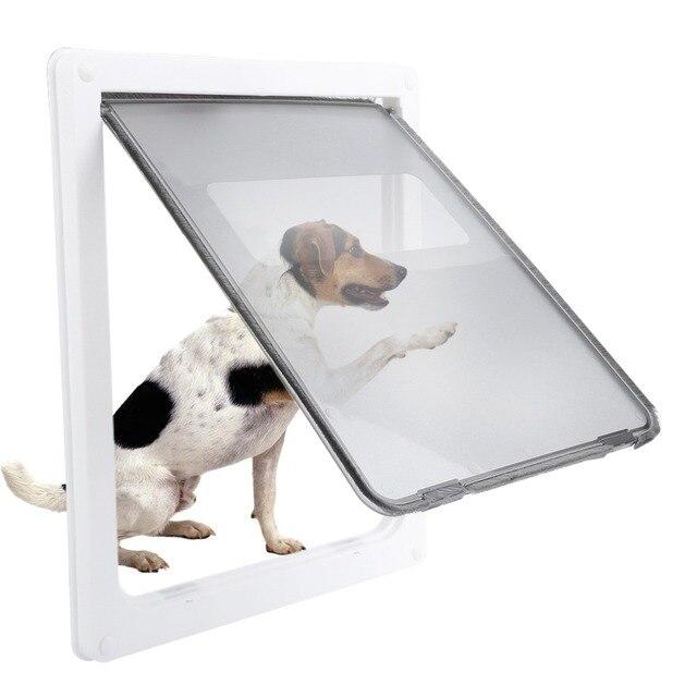 17inch Large Dog Door Abs White Safe Pet Door For Large Medium Dog