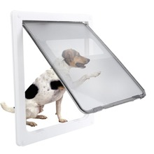 17inch Large Dog Door ABS White Safe Pet Door For Large Medium Dog Freely In and Out Home Gate Animal Pet Cat Dog Door