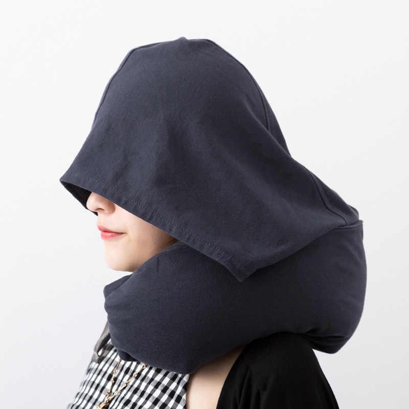 Multi-funcional u-forma de viaje almohada básico de viaje de negocios sombreado descanso sombrero cojín para siesta para oficina accesorios suministros