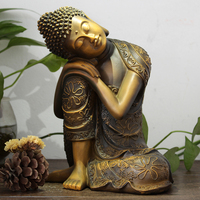Thailand Sakyamuni Buddha Statue Antique Decoration Southeast Asian Style Studio Yoga Garden Home Decorations