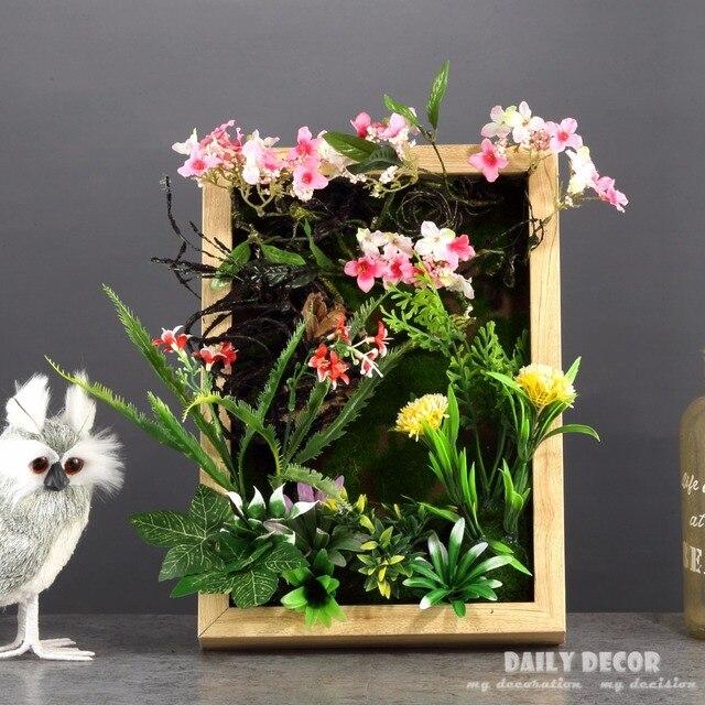 Nice Flores Artificiais De Simulacao De Alta 3d Moldura Planta