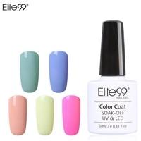 Elite99 Macaron Colors UV Gel 10ml Nail Gel Polish Varnish Top Base Necessary Nail Art Manicure Macaron Professional Gel Lacquer