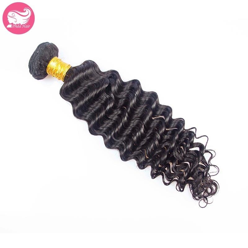 Unprocessed 7A Virgin Malaysian Human Hair Bundles 1pc Malaysian Deep Wave Virgin Hair Weaves Deep Curly Virgin Hair Extensions