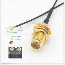 12in 12'' IPX IPEX I-PEX U.FL to SMA female jack RF pigtail jumper cable for PCI WIFI Card wireless router 0.81mm 30CM