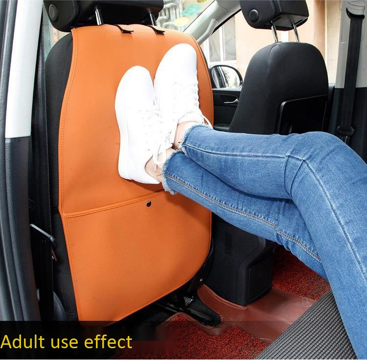 Car Seat Back Protector Cover Kick Mat with Organizer Transparent Waterproof Wash Free Protective Cover Universal for Children Kids Toddlers