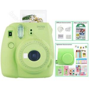 Image 5 - Kit Photo 5 couleurs Fujifilm Instax Mini 9 avec sac de transport, Film Instax Mini 20 feuilles, Album, autocollants et objectif