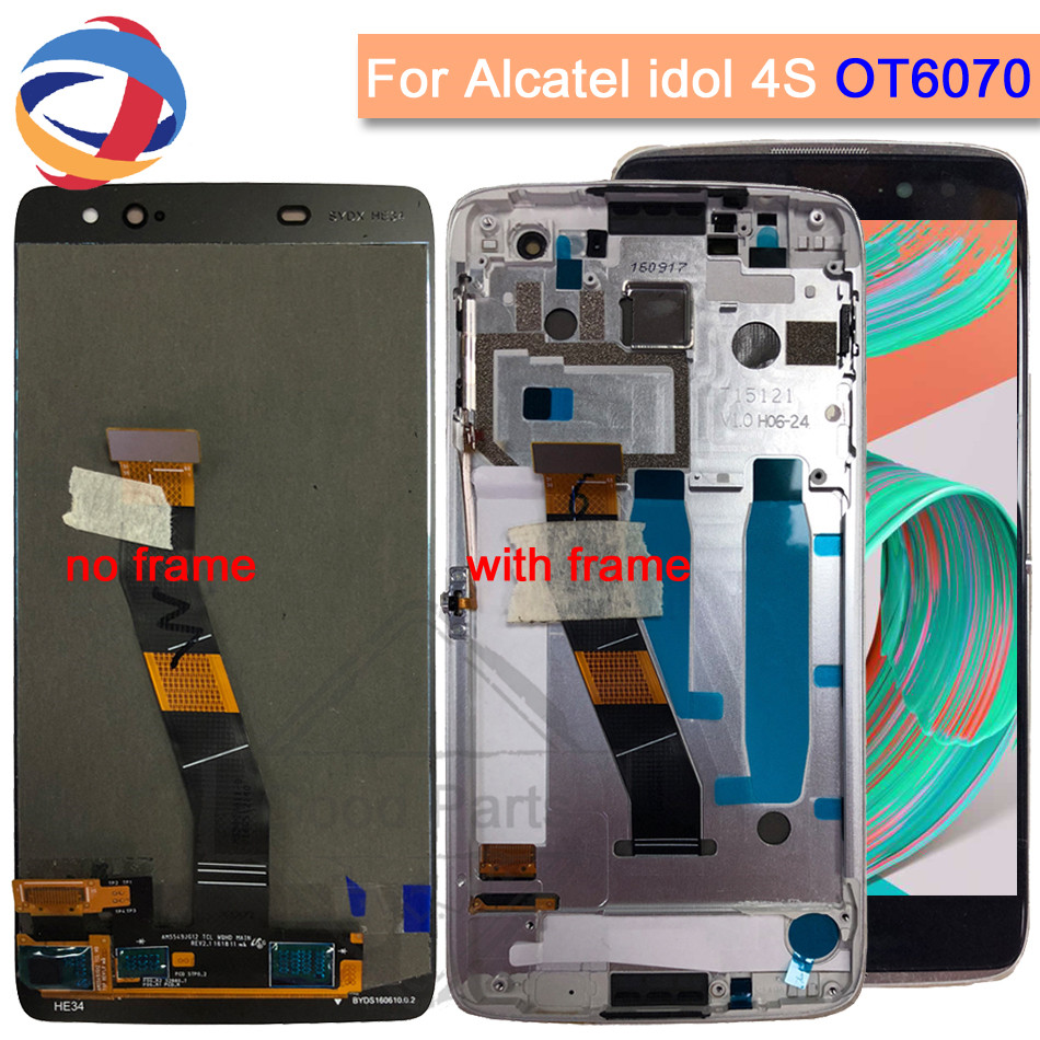 LCD For Alcatel Idol 4S Lcd Display Touch Screen Assembly Replacement  Repair Parts For Alcatel Idol 4S OT6070 6070k 6070y