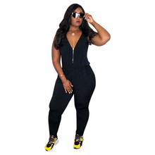 MUXU black jumpsuit combinaison femme body women bodysuit sexy womens clothing suit plus size long