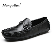 Brand Fashion Mens Trainers New Cool Italy Style Drive Shoes Slip On Lazy Sneakers Black White
