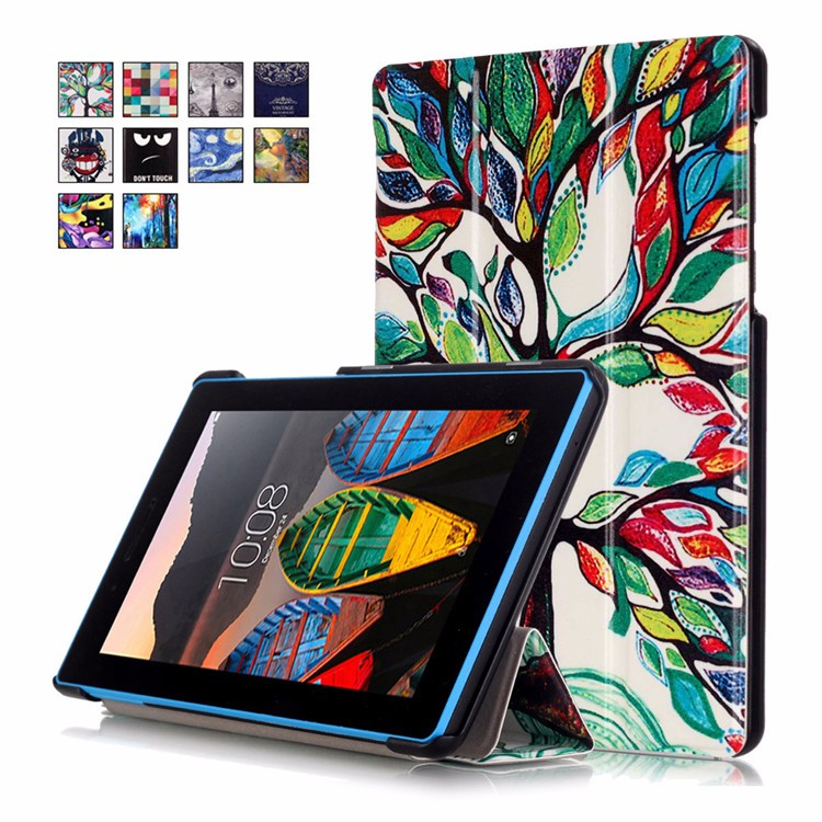 Hot Magnetic Stand pu leather Case for Lenovo Tab 3 Tab3 7 Essential 710 710F TB3-710F tablet cover + Screen Protectors+ stylus