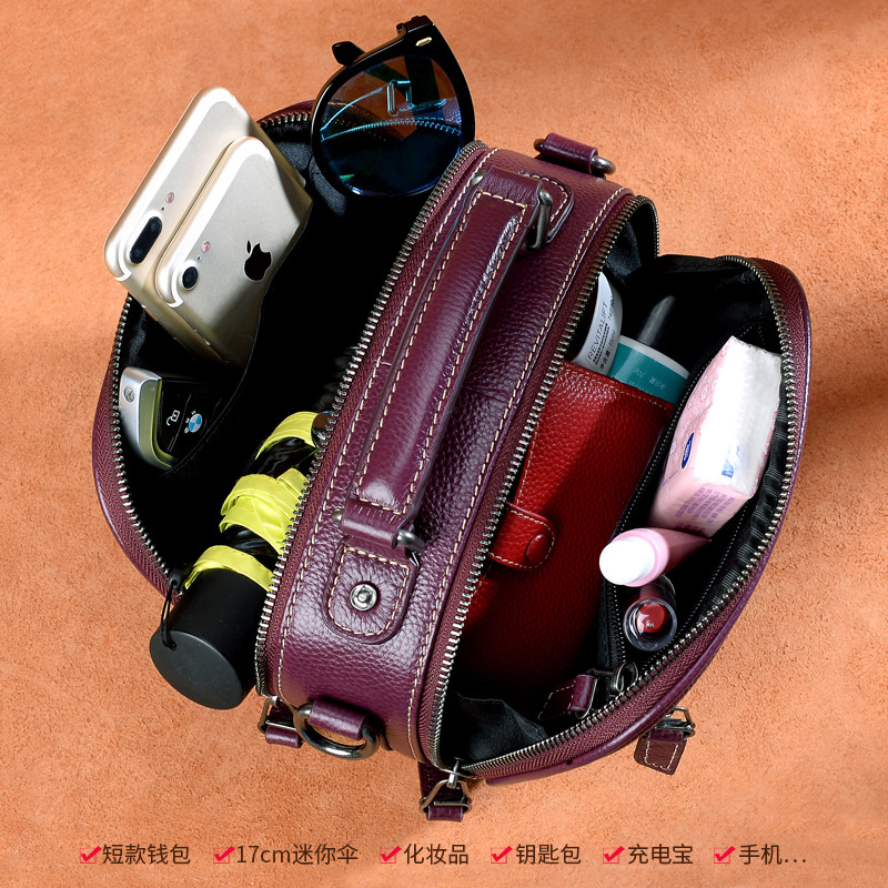 Classic women 39 s Genuine leather shoulder bags Handbag Multi function Designer Messenger Cow Leather Crossbody Flap bag in Top Handle Bags from Luggage amp Bags
