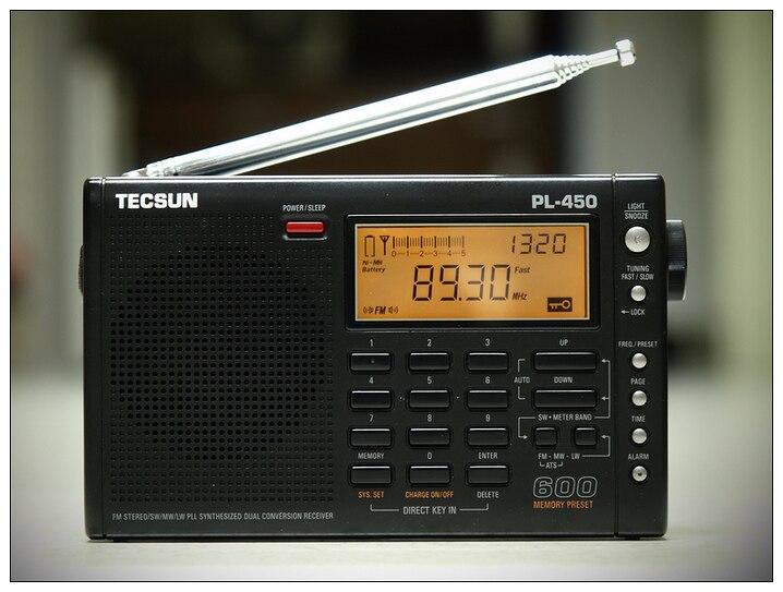 Оригинал Tecsun ЛП-450 FM-радио стерео МВт SW в ДВ-ССБ воздуха Коротковолновым двойной преобразования Радио портативный Louderspeaker FM-радио PL450