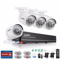 SANNCE 8CH 720P HD CCTV System 1080P HDMI Video Recorder DVR Kit 720P 1500TVL CCTV Security