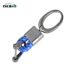 Car Key Holder Rings Chain Hand Woven Horseshoe Buckle Keychain Keyring Gift Creative Auto Accessories