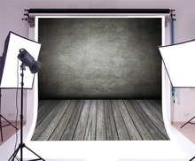 Laeacco Gradient Color Cement Brick Wall Wooden Floor Photography Backdrops Photographic Backgrounds Grunge Portrait Photozone