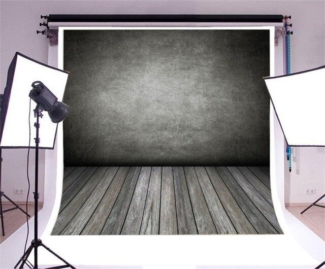Laeacco Gradient Màu Xi Măng Tường Gạch Sàn Gỗ Chụp Ảnh Phông Nền Chụp Ảnh Nền Grunge Chân Dung Photozone