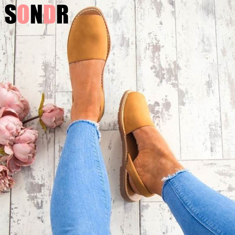 Women Sandals Plus Size 35-43 Summer Shoes Woman Peep Toe Flat Sandals Back Strap 2019 Summer Sandals Low Heels Zapatos Mujer