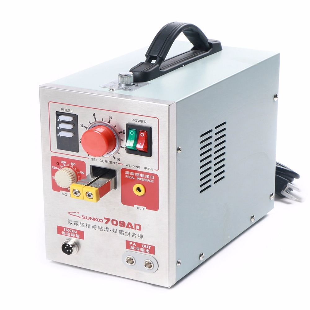 цена на Sunkko 709AD Battery Spot Welder Welding Machine for Lithium Battery Pack with Soldering Function 1.9 kw