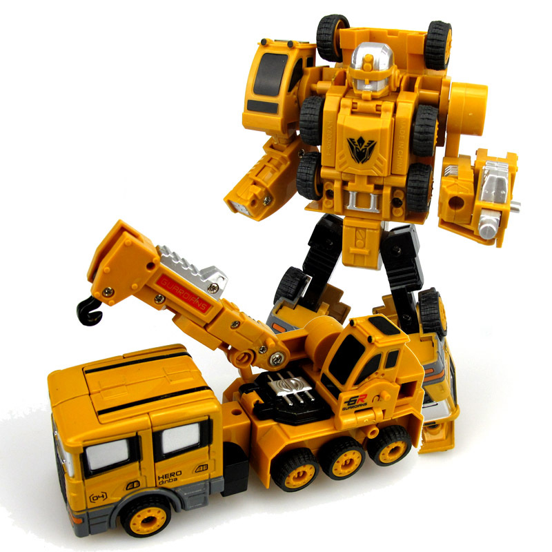 Image 3 - 2 in 1 Alloy Engineering Transformation Robot Car Deformation Toy Metal Alloy Construction Vehicle Truck Assembly Robot For Kid-in Diecasts & Toy Vehicles from Toys & Hobbies