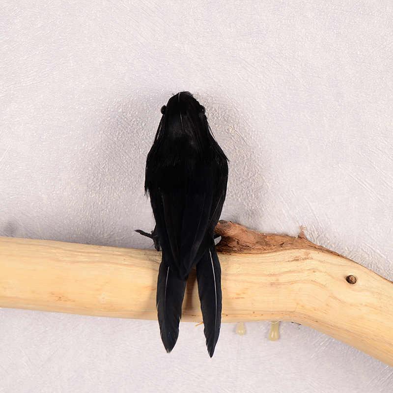 Halloween corvo artificial pássaro brinquedos corvos prop festa extravagante decoração adereços suprimentos qp2