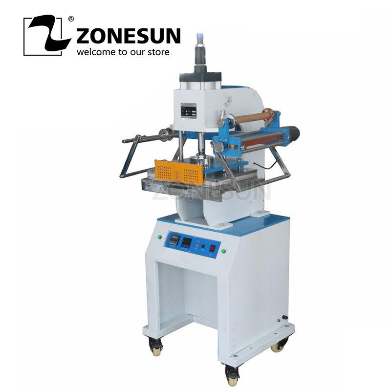 ZONESUN ZY-819M Machine à emboutir pneumatique en cuir LOGO Machine à rainer