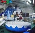 ПВХ гигантский 3 м надувной снежный глобус с фоновым принтом Рождественский снежный глобус надувной для продажи