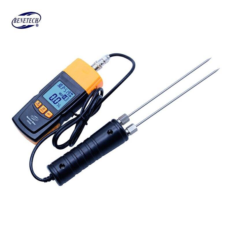 BENETECH GM620 numérique LCD affichage bois humidimètre 2 ~ 70% testeur d'humidité double sonde d'essai bois détecteur d'humidité portable - 5