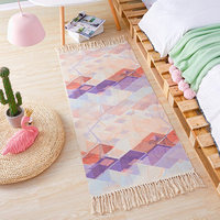 Carpet Nordic bedroom strip hand woven mat tassel rug home large area full easy to clean bedside