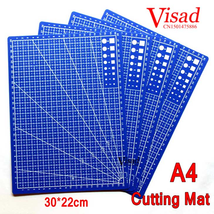 1 Piece Blue Plastic Cutting Mat Cutting Pad Cutting Mats For Quilting Craft Cutting Board Mat With Grid Lines