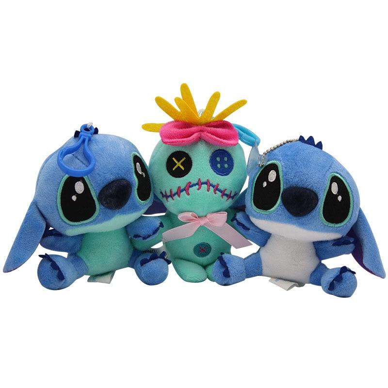 11*7 cm lilo bonito e stitch brinquedos de pelúcia disney kawaii recheado boneca de pelúcia brinquedos crianças aniversário presente de casamento corda brinquedo