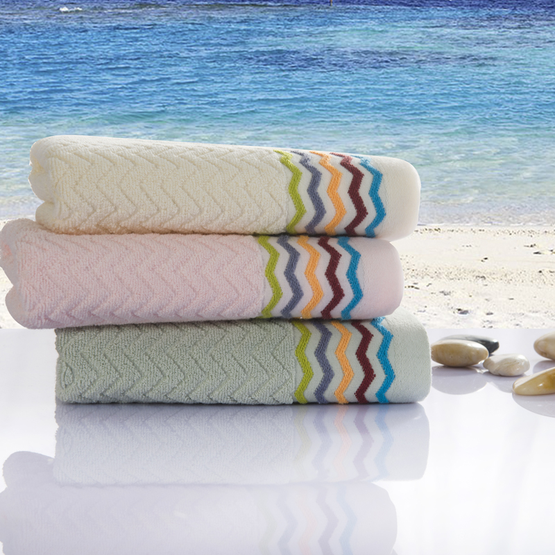 Luxury Personalized Multi Color Bamboo Cotton Towel On