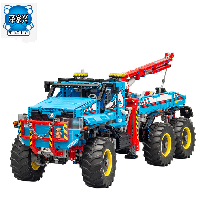Lepins 1912Pcs Technic Series The Ultimate All Terrain 6X6 Remote Control Truck Building Blocks Bricks Toys Model Figures Gift цена