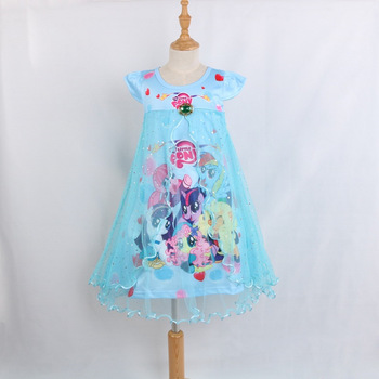 Unicorn Baby Girls Lace Dresses