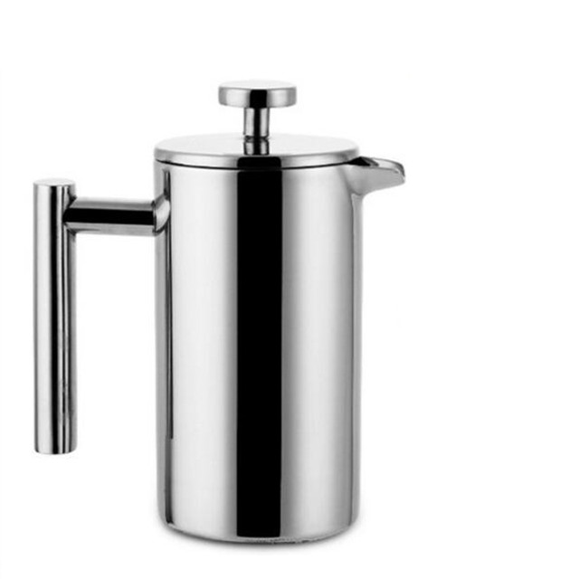 Hot selling Stainless steel 304 double layer french presses coffee pot with 150ML mugs set larger capacity Manual cafe's maker 1