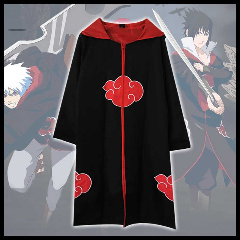Milky Way Naruto Cosplay Anime Costume Taka Hebi Hawk Snake Organization Sasuke Uchiha Cloak With Hat Section