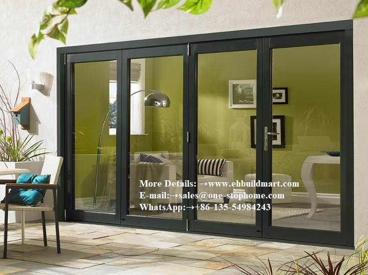 Interior Room Dividers Soundproof Insulated Glass Aluminium Bi-Folding Doors,Bi Fold Doors For Living Room