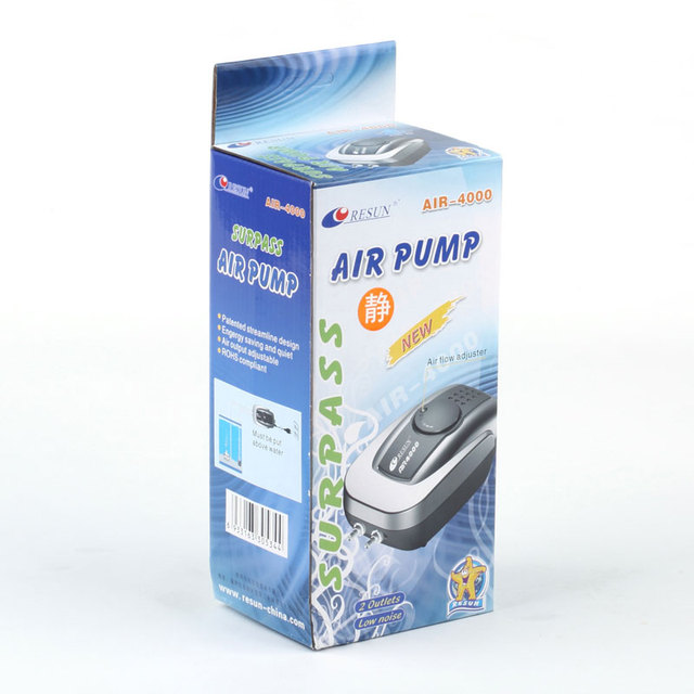 Stille Aquarium Luftpumpe Aquarium Sauerstoff Luft Kompressor Belüfter Aquarium Air Flow Maker Prump Für Fisch Marine Anlage Tank
