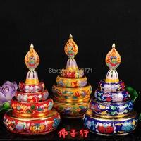 チベット仏教用品ハイグレード純粋なマニュアルは厚いポリッシュmanzanarディスクタントラ