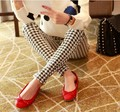 2016 Fashion Woman Houndstooth Milk Silk Bars Leggings High Elastic Ankle Length Trousers Leggings woman