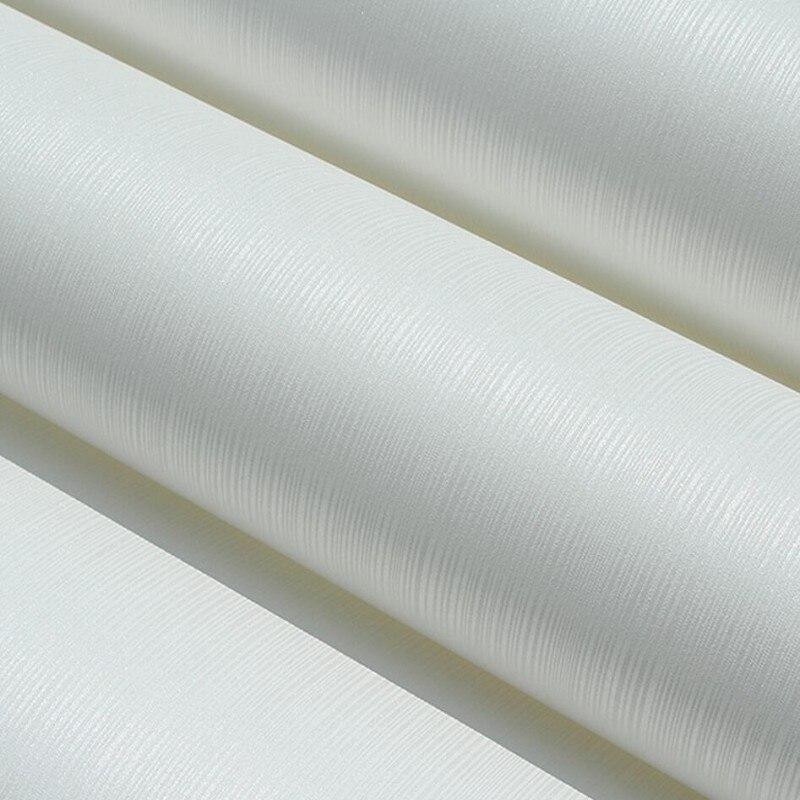 Us 3233 39 Offbeibehang Dinding Kertas Putih Murni Moderen Sederhana Polos Polos Garis Wallpaper Papel De Parede Mural Pvc Dinding Kertas
