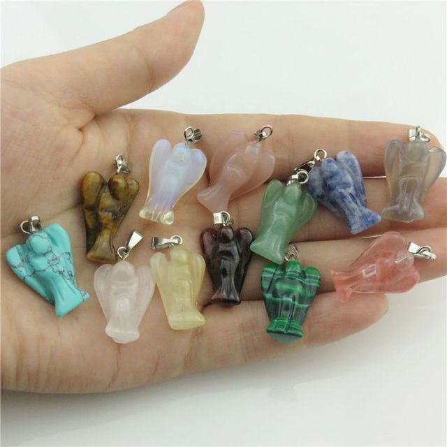 20628 Mixed 12pcs/set Box Nature Stone Charms Quartz Bird Eagle Shape Pendant Dangle Crafts Jewelry Findings Free Shipping