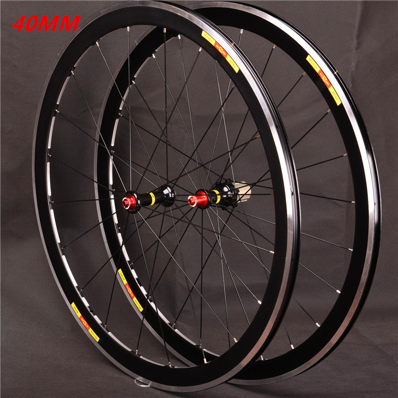 Ultralight 700c 40mm Depth 19mm Width Aluminum Alloy Road Bicycle Wheels Bike Wheelset Rims