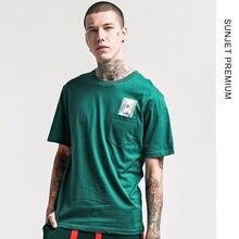 SUNJET PREMIUM hombres 2018 tendencia de hip-hop de manga corta de algodón camiseta  de encargo al por mayor publicidad camiseta . 0357842c11dcb